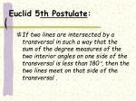 euclid 5 th postulate