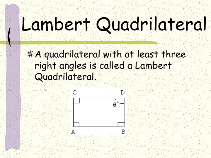 Lambert Quadrilateral