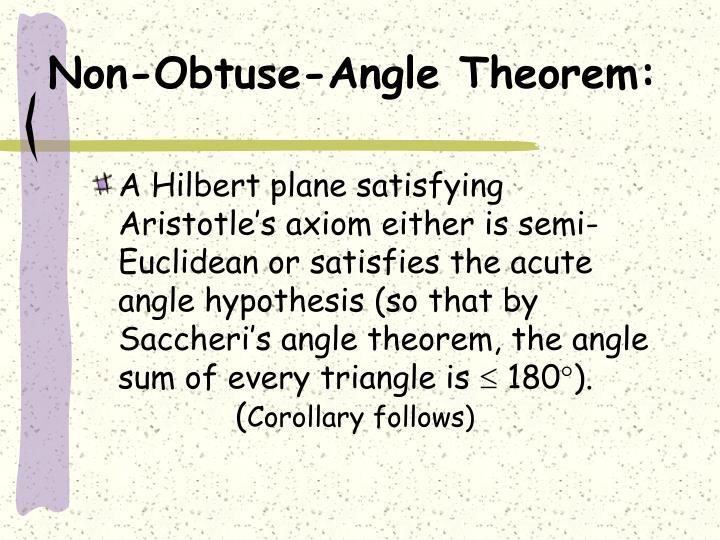 Non-Obtuse-Angle Theorem: