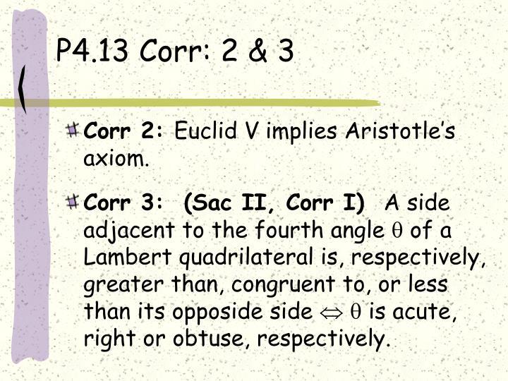 P4.13 Corr: 2 & 3