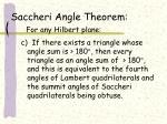 saccheri angle theorem for any hilbert plane2