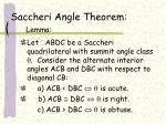saccheri angle theorem lemma