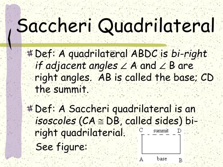 Saccheri Quadrilateral