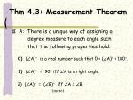 thm 4 3 measurement theorem