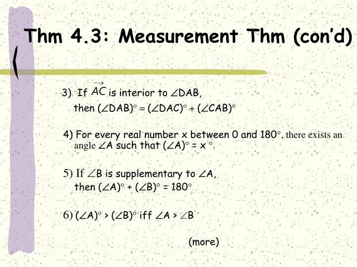 Thm 4.3: Measurement Thm (con'd)