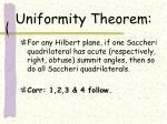 uniformity theorem
