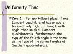 uniformity thm