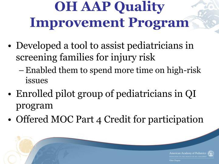 OH AAP Quality Improvement Program
