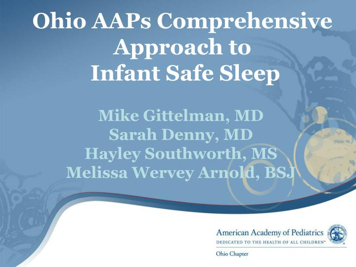 ohio aaps comprehensive approach to infant safe sleep