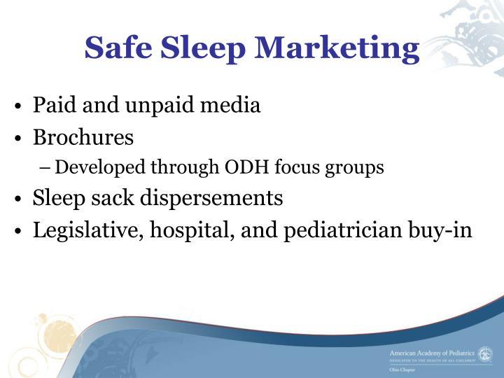 Safe Sleep Marketing