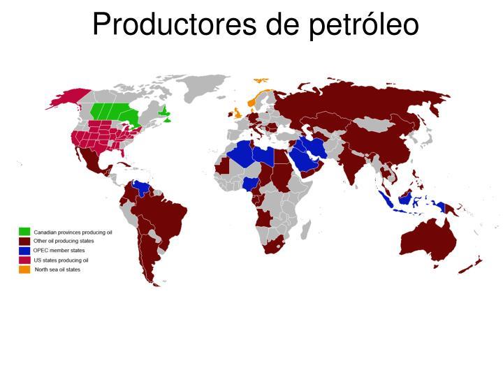 Productores de petróleo