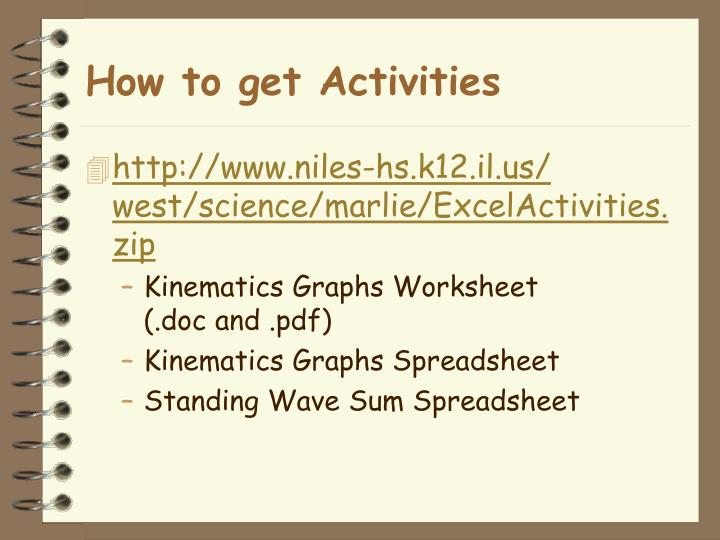 How to get Activities