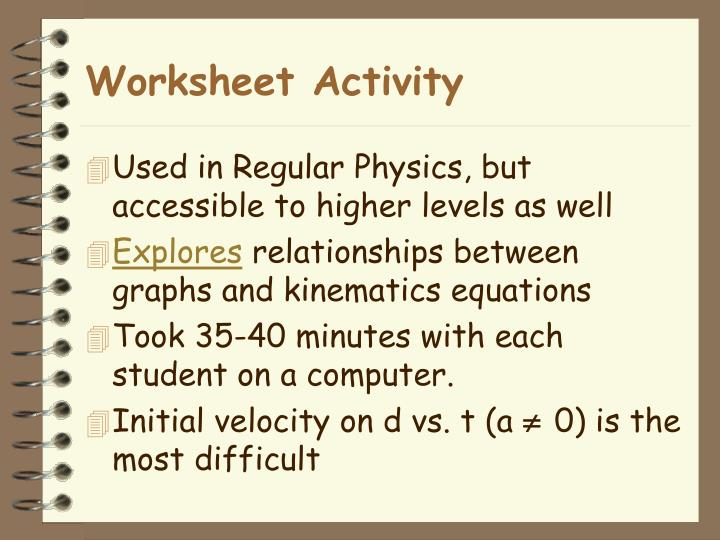 Worksheet Activity