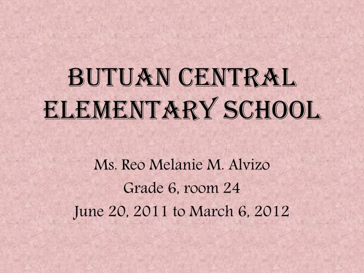 Butuan central elementary school