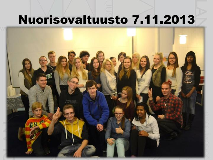 Nuorisovaltuusto 7.11.2013