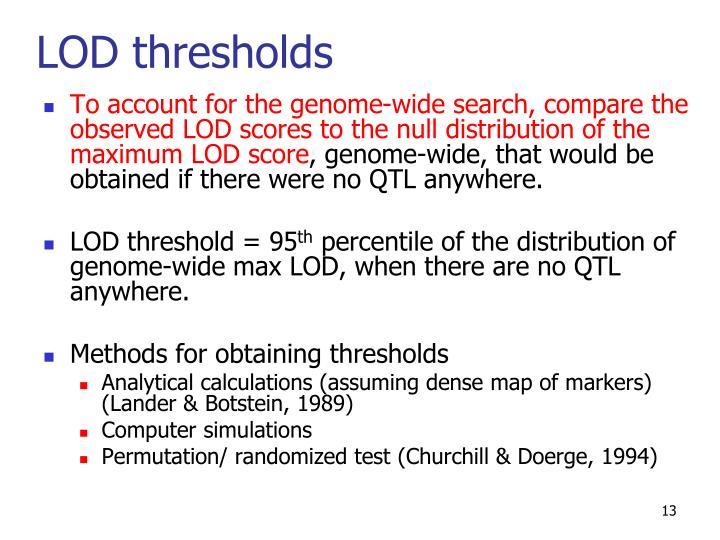 LOD thresholds