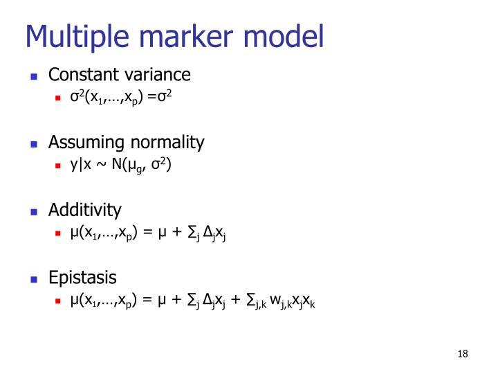 Multiple marker model