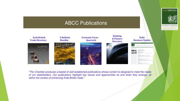 ABCC Publications