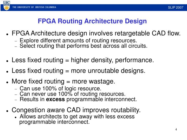 Architecture design involves retargetable CAD flow.