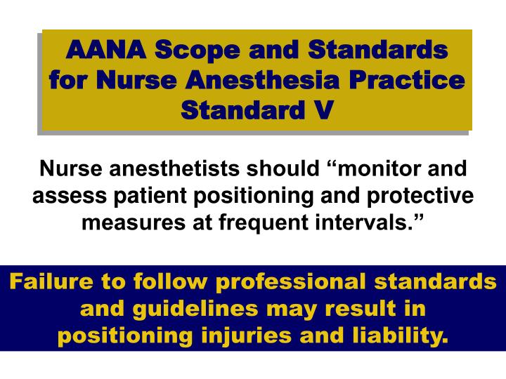 AANA Scope and Standards for Nurse Anesthesia Practice