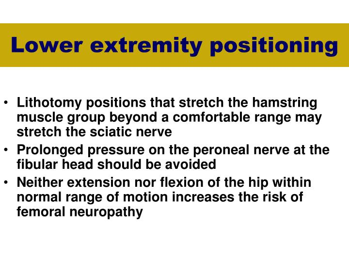 Lower extremity positioning