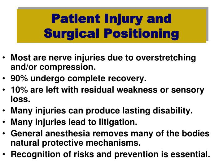 Patient Injury and