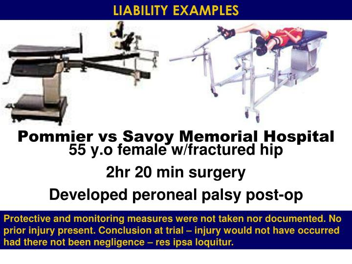 LIABILITY EXAMPLES