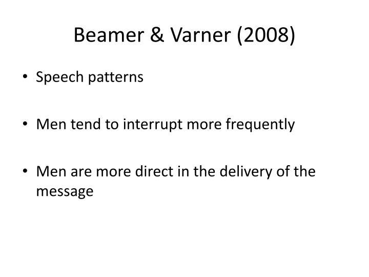 Beamer & Varner (2008)