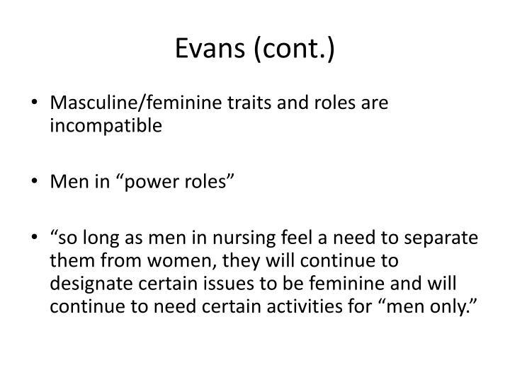 Evans (cont.)