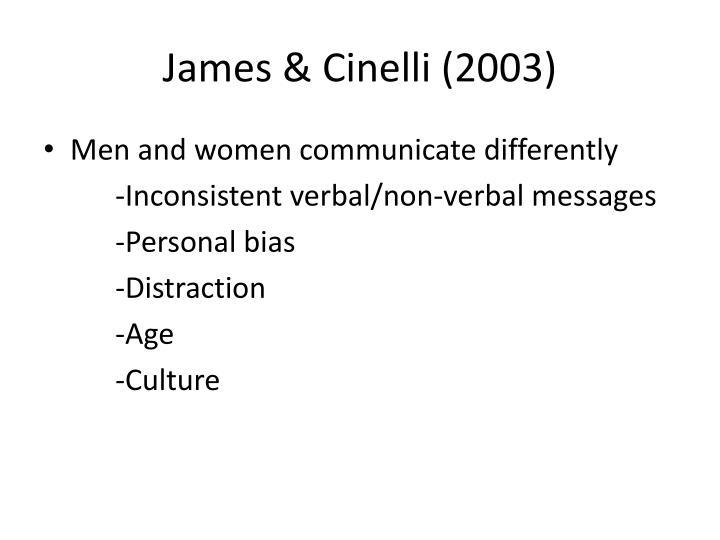James & Cinelli (2003)