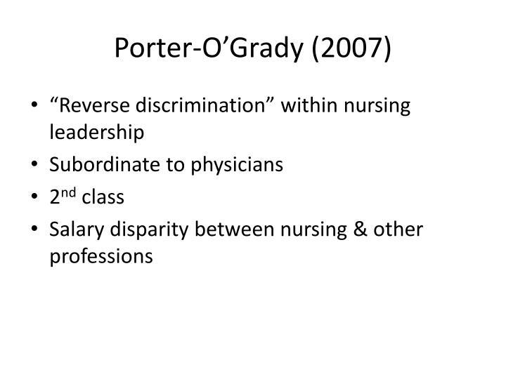 Porter-O'Grady (2007)