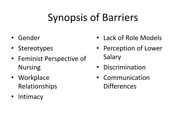 Synopsis of barriers