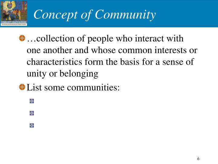 Concept of Community