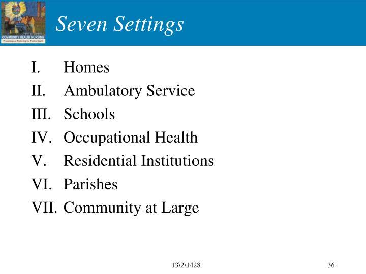 Seven Settings