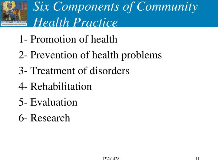 Six Components of Community Health Practice