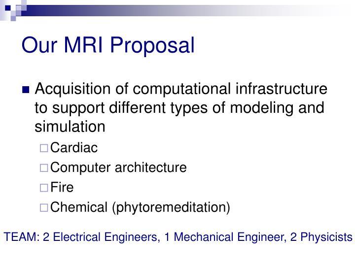 Our MRI Proposal