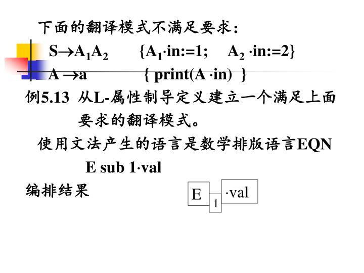 下面的翻译模式不满足要求: