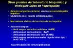 otras pruebas del laboratorio bioqu mico y virol gico tiles en hepatopat as