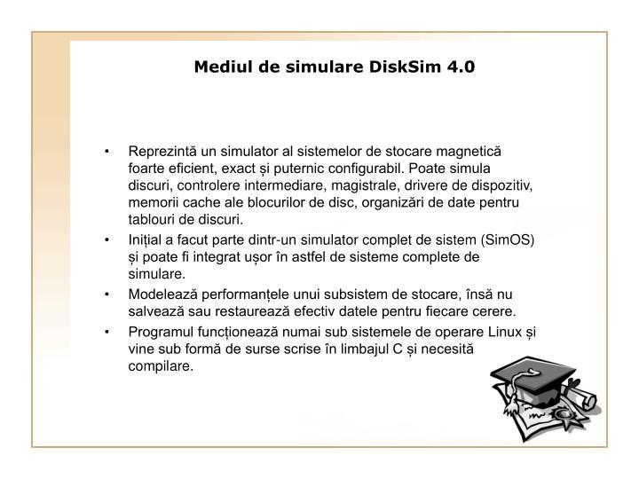 Reprezintă un simulator al sistemelor de stocare magnetică foarte eficient, exact și puternic configurabil. Poate simula discuri, controlere intermediare, magistrale, drivere de dispozitiv, memorii cache ale blocurilor de disc, organizări de date pentru tablouri de discuri.