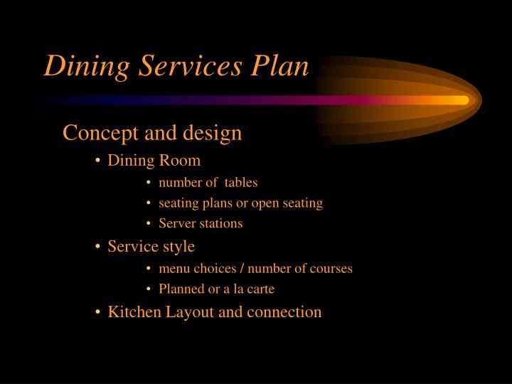 Dining Services Plan