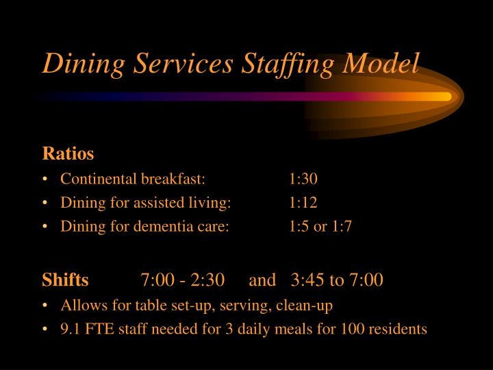 Dining Services Staffing Model