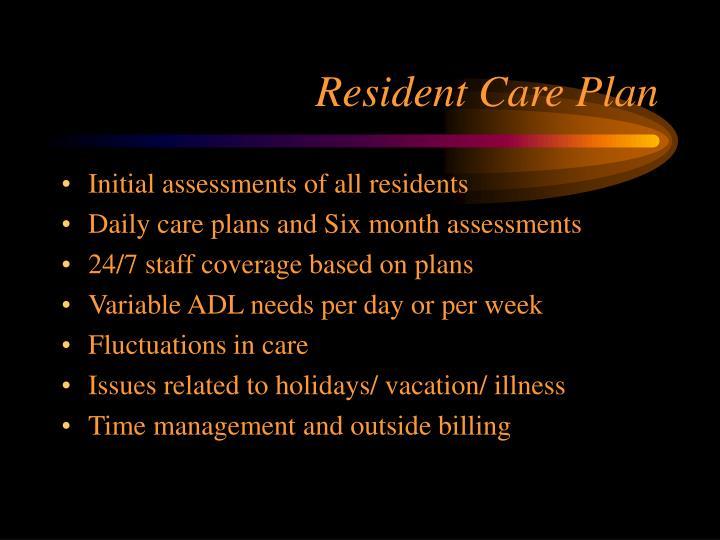 Resident Care Plan