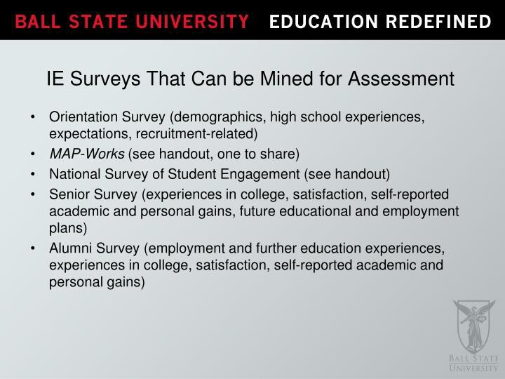 Orientation Survey (demographics, high school experiences, expectations, recruitment-related)