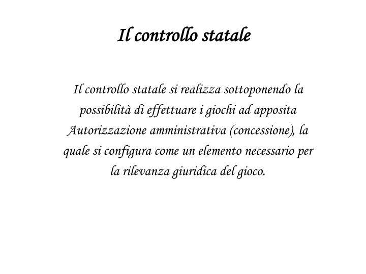 Il controllo statale