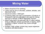 mixing water