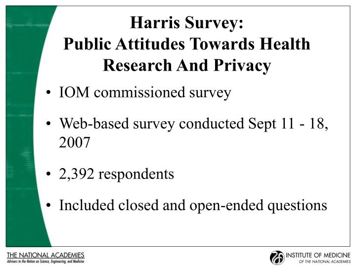 Harris Survey: