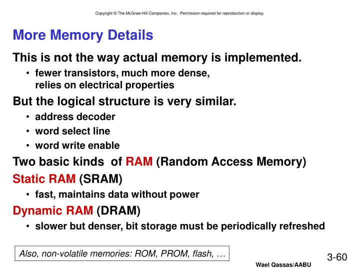 More Memory Details