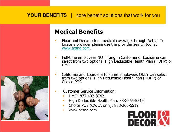 YOUR BENEFITS
