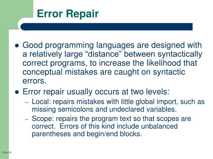Error Repair