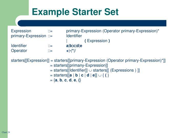 Example Starter Set
